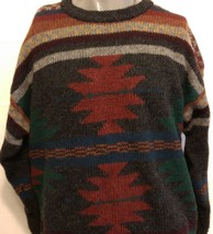 Vintage Woolrich Colorful Southwestern Patterns Wool Sweater Winter Chri... - $1.143,63 MXN