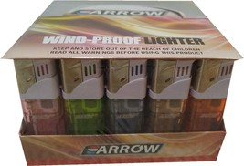 Lot of 50 Arrow Wind Proof Cigar Cigarette lighters free shipping - $25.47