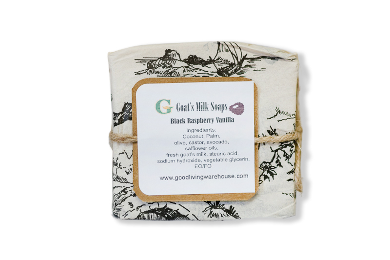 Handcrafted Natural Goat's Milk Soap - Black Raspberry Vanilla - Large (5 oz)
