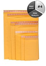 "#4 Ecolite Self-Sealing PolyAir Brand KRAFT Bubble Mailers, 9.5"" x 14.5""... - $431.15"