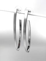 CHIC Thin Lightweight Mat Silver Metal Long Stick Dangle Post Earrings - $12.99