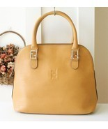 Fendi bag Epi Leather Yellow Alma Tote Vintage ... - $395.00