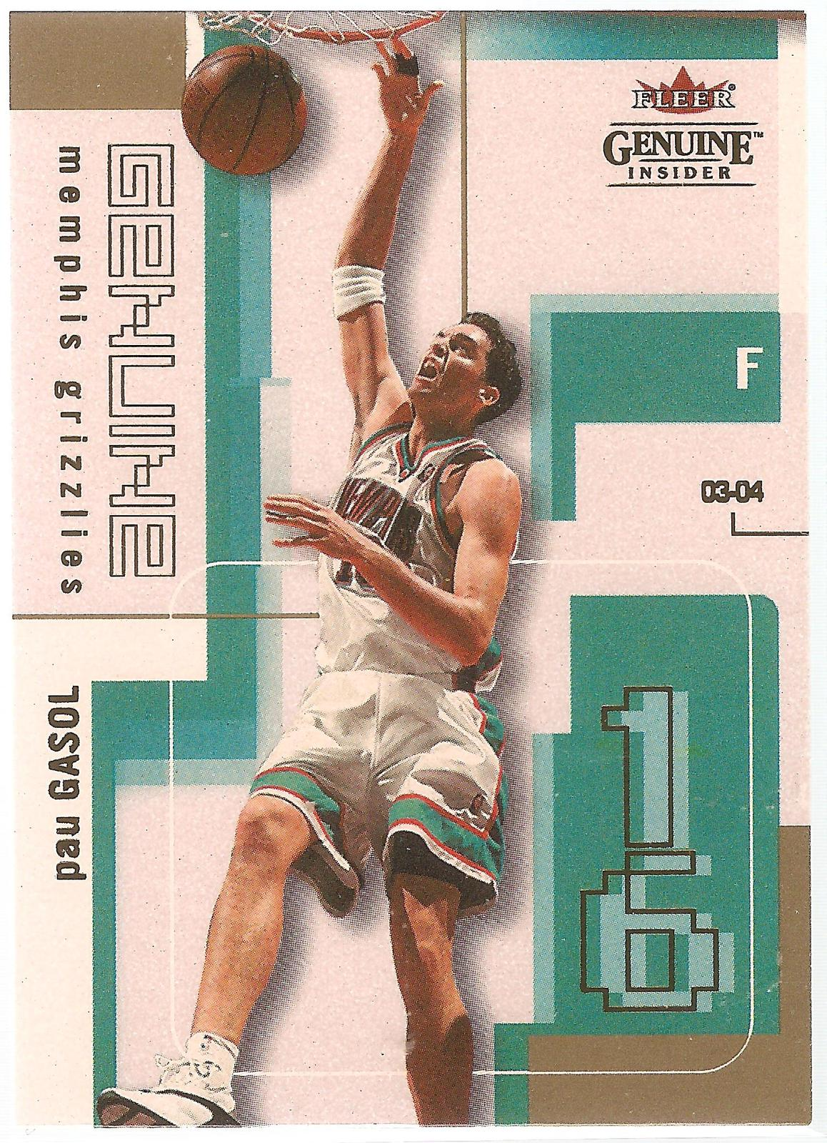Pau Gasol Fleer Genuine Insider 03-04 #16 Memphis Grizzlies Chicago Bulls Lakers