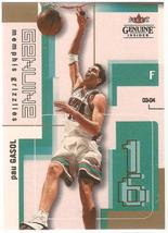 Pau Gasol Fleer Genuine Insider 03-04 #16 Memphis Grizzlies Chicago Bull... - $0.50