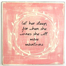 """Let her Sleep"" Antique Style Rustic Classic Wall Art Sign Home Decor - $14.00"