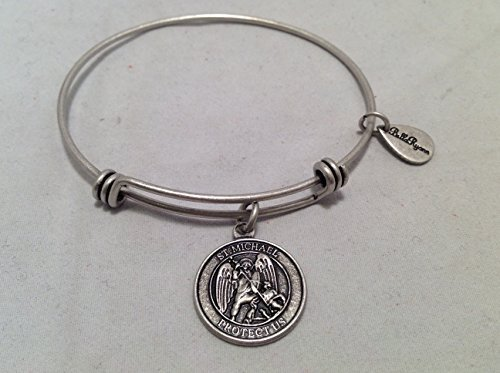 Bella Ryann St. Michael Protect Us Silver Charm Bangle Bracelet [Jewelry]