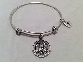Bella Ryann St. Michael Protect Us Silver Charm Bangle Bracelet [Jewelry]