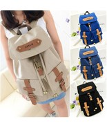 Vintage Women's Canvas Satchel Backpack #B Rucksack Shoulder School Bag ... - $614,14 MXN+
