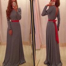 Women Stripe Boho #B Evening Party Long Maxi Beach Maxi Elastic Dress + ... - $10.46+