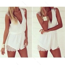 Sexy Womens  #B Lace Playsuit Evening Party Summer Chiffon Dress Jumpsui... - $7.71