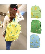 Women Girl Cute Pattern Canvas Backpack #B Schoolbag Rucksack Satchel Tr... - $156,73 MXN+