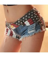 Sexy Women American US Flag Mini #B Jeans Shorts Pants Trousers Denim Lo... - $177,21 MXN+