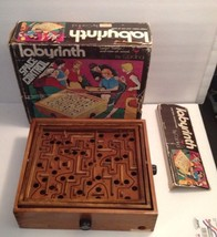 LABYRINTH SPACE CONTROL VINTAGE GAME ALL WOOD BY CARDINAL WITH SUPER RAR... - $37.04