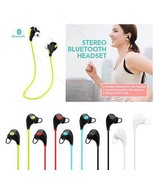 Bluetooth Wireless Headset Stereo Earphone Headphone #B Sport Universal ... - $122,34 MXN