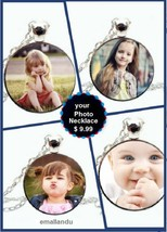 Any photo picture Necklace custom personalized love pet Pendant Baby Gir... - $9.89