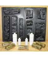 #OKL-04K Limestone Concrete Veneer Molds (9) + Supply Kit Make Rock For ... - $219.99