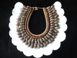 Fabulous Shell Necklace and Bead Home Decor Papua New Guine Style Savage... - $199.33