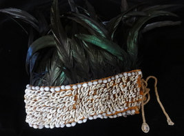 Ultra Music Festival Black Feather Tribal Headdress Party Hat White Smal... - $166.33
