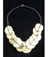 Exotic White Round Shell Necklace Woman Fashi... - £163.70 GBP