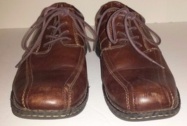 Dockers ProStyle Brown Pebble Leather Oxford Mens Size 9M - $12.86