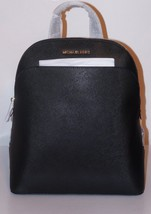 NWT MICHAEL MICHAEL KORS EMMY  LEATHER BACKPACK -BLACK - $204.88