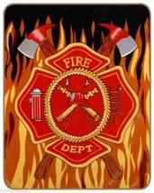 FIRE DEPT New Queen Size FIRE DEPARTMENT Soft Faux Mink Heavy Warm Bed Blanket - $59.95
