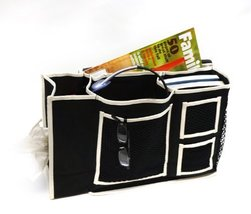 Florida Brands Bedside Organizer with Tissue Box, Black - $14.99