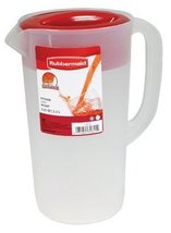 RUBBERMAID Covered Pitcher 2.25 qt - White with... - $7.98
