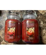 Lot of 2 Yankee Candle Apple Pumpkin 22 oz Large Glass Jar Candle - $48.51