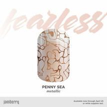 Jamberry PENNY SEA Full Sheet Nail Wrap - Fearless Exclusive - $18.81