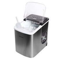 Frigidaire Stainless-Steel 26-lb. Bullet-Shaped Ice Maker (Assorted Colors) - $189.00