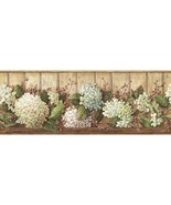 Vines of Hydrangea Wallpaper Border York Wallcovering HK4643BD - $20.99