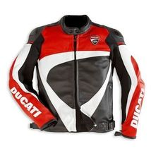 DUCATI MULTICOLORED CORSE MOTORBIKE RACING LEATHER JACKET CE APPROVED  - $159.99+
