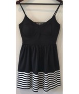 Finn & Clover Dress Size Medium Black White Striped - $22.77