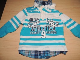 The Children's Place Boys 6-9 Month Long Sleeve Blue Polo Plaid  shirt top NWOT  - $7.00