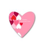 AB-Pink Valentine Background Shape-Digital Clipart  - $4.00