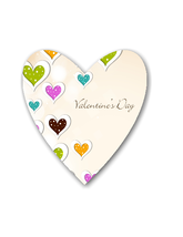AC-Valentine Background Shape-Digital Clipart  - $2.00