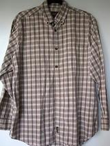 Woolrich Shirt XL Brown Plaid Long Sleeve button Down Mens  NO SIZE TAG  - $34.99