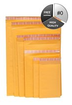 "9000 Eco-lite #0 Golden Kraft Self Seal Bubble Mailer, 6.5"" x 10"" 9000pcs - $1,095.59"