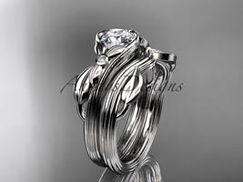 Platinum  diamond engagement set with a Moissanite center stone ADLR324S - $1,875.00