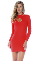 Forplay Chic Criss Cross Long Sleeve Mini Dress ~ Black, Red or White - $22.99