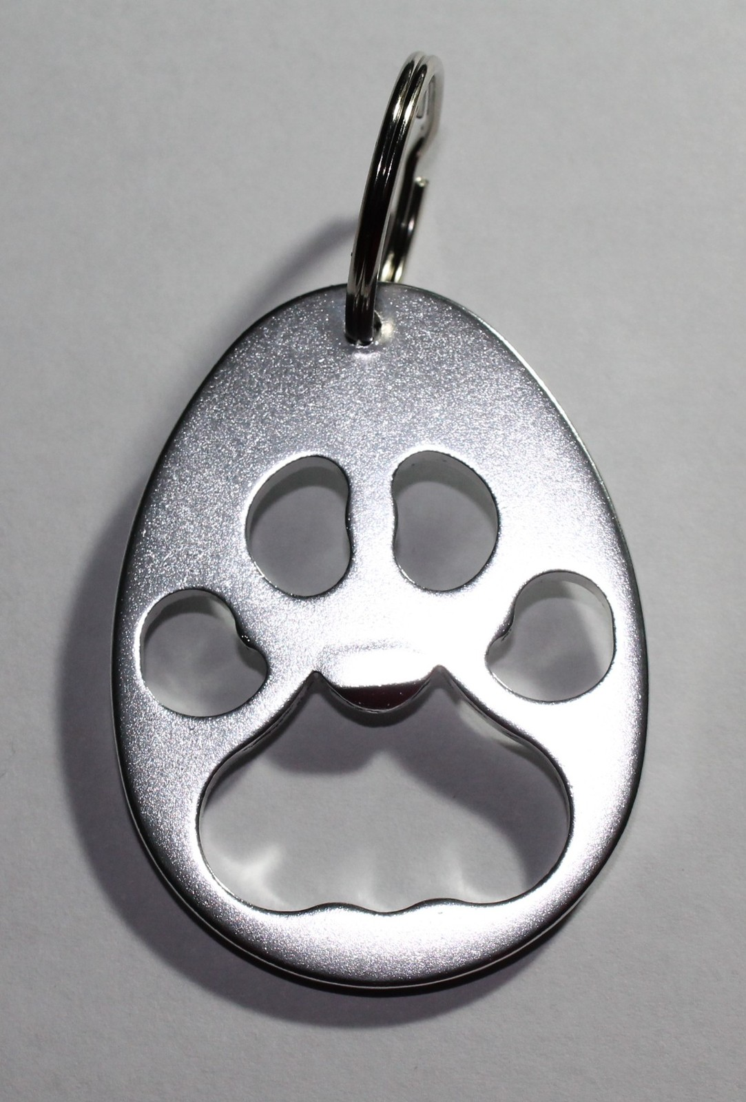 Aluminum Pet Paw Print Bottle Opener Key Ring Chain Dog