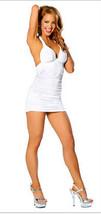 N001 Sexy Lycra halter dress, Deep V front, free size, black - $18.80