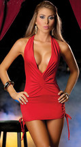 N003 Sexy sleeveless nec halater blouse, free size, red - $18.80