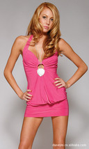 N002 Sexy sleeveless halter blouse, free size, rosary red - $18.80