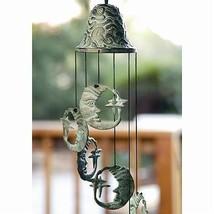 Celestial Moon Brass Garden Art Wind Chime,18''H. - $48.51
