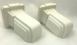 Vintage Art Deco Wall Mount Sconce Light Fixture White Porcelain Set 2 A... - $296.01