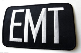 EMERGENCY MEDICAL TECHNICIAN EMT LARGE EMBROIDERED PATCH 5 X 8 INCHES - $8.23