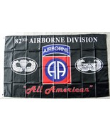 UNITED STATES 82ND ARMY AIRBORNE 3 X 5 POLYESTE... - $7.51