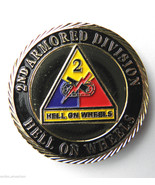 US ARMY 2ND ARMORED DIVISION PATRIOTIC SERIES CHALLENGE COIN 1.6 INCHES NEW - $9.78